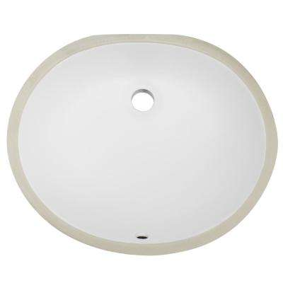 Belfast 19.5 in. Undermount Vanity Sink Basin in White