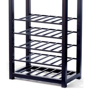 e27d2fe9a863 Tag 25-Bottle Black Floor Wine Rack-TAG290119 - The Home Depot