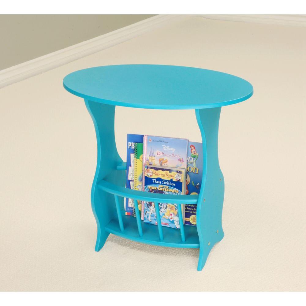Homecraft Furniture Blue Magazine End Table-BU110A