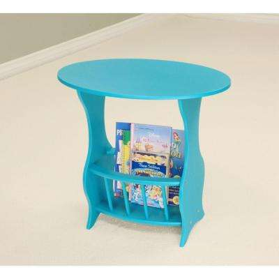Blue Magazine End Table