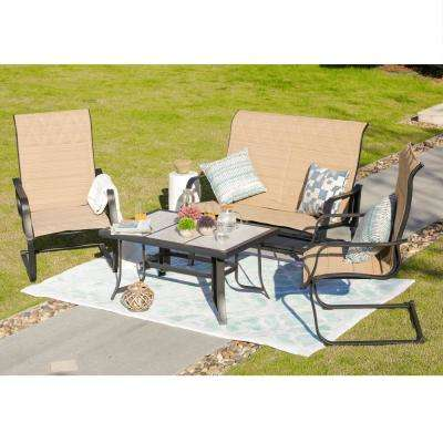 4-Piece Sling Patio Conversation Set