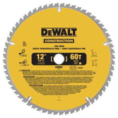 20 Series 12 in. 60T Fine Finish Saw Blade