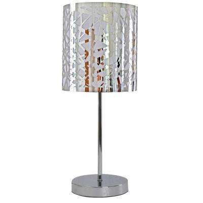 Nice Collection 18 in. Chrome Table Lamp