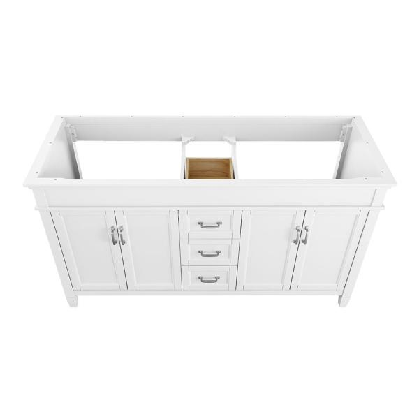 Home Decorators Collection - Ashburn 60 in. W x 21.75 in. D Vanity Cabinet in White