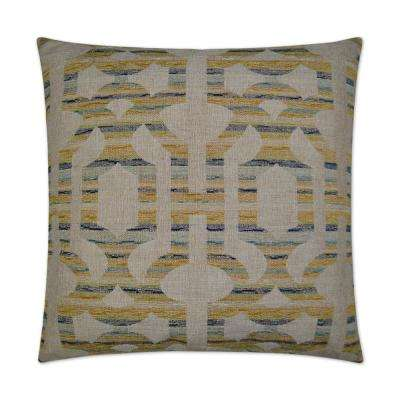Sacramento Feather Down 24 in. x 24 in. Standard Decorative Throw Pillow