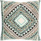 Wadham Green Graphic Polyester 18 in. x 18 in. Throw Pillow