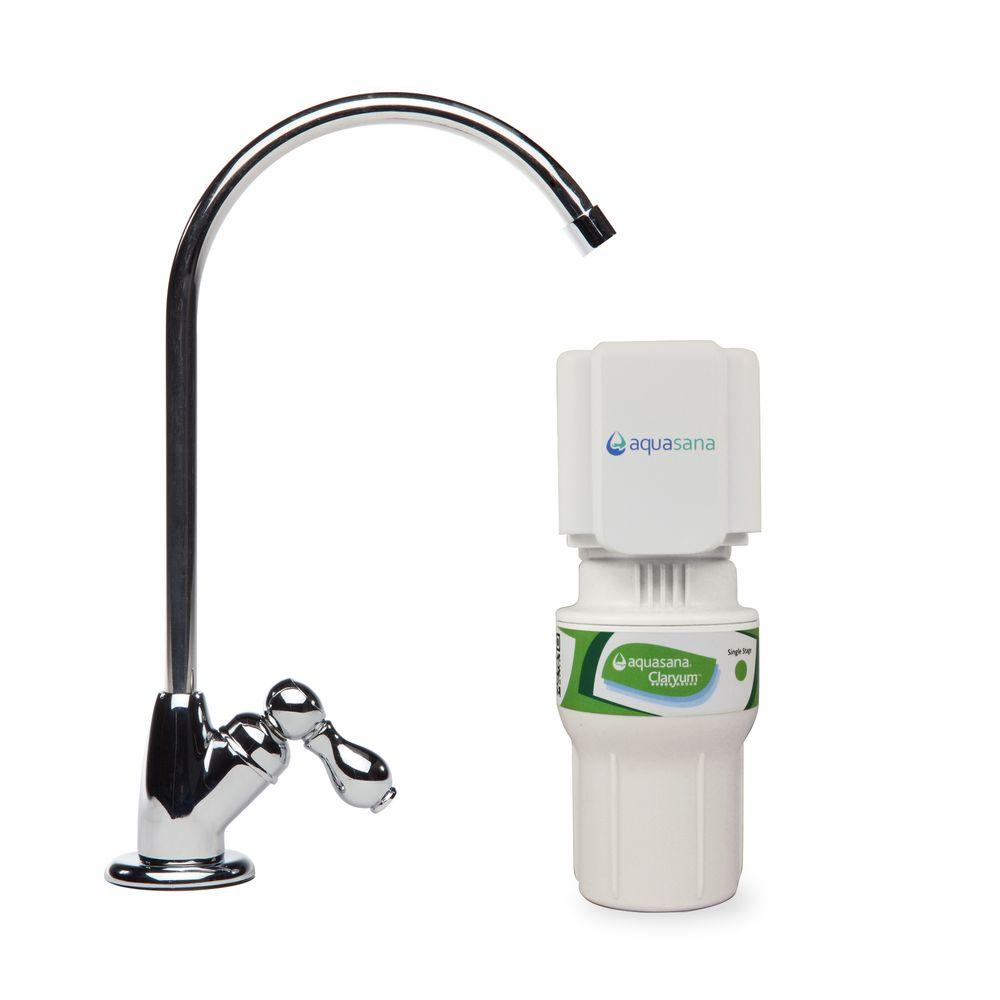 1-Stage Under Counter Water Filtration System with Chrome Finish Faucet