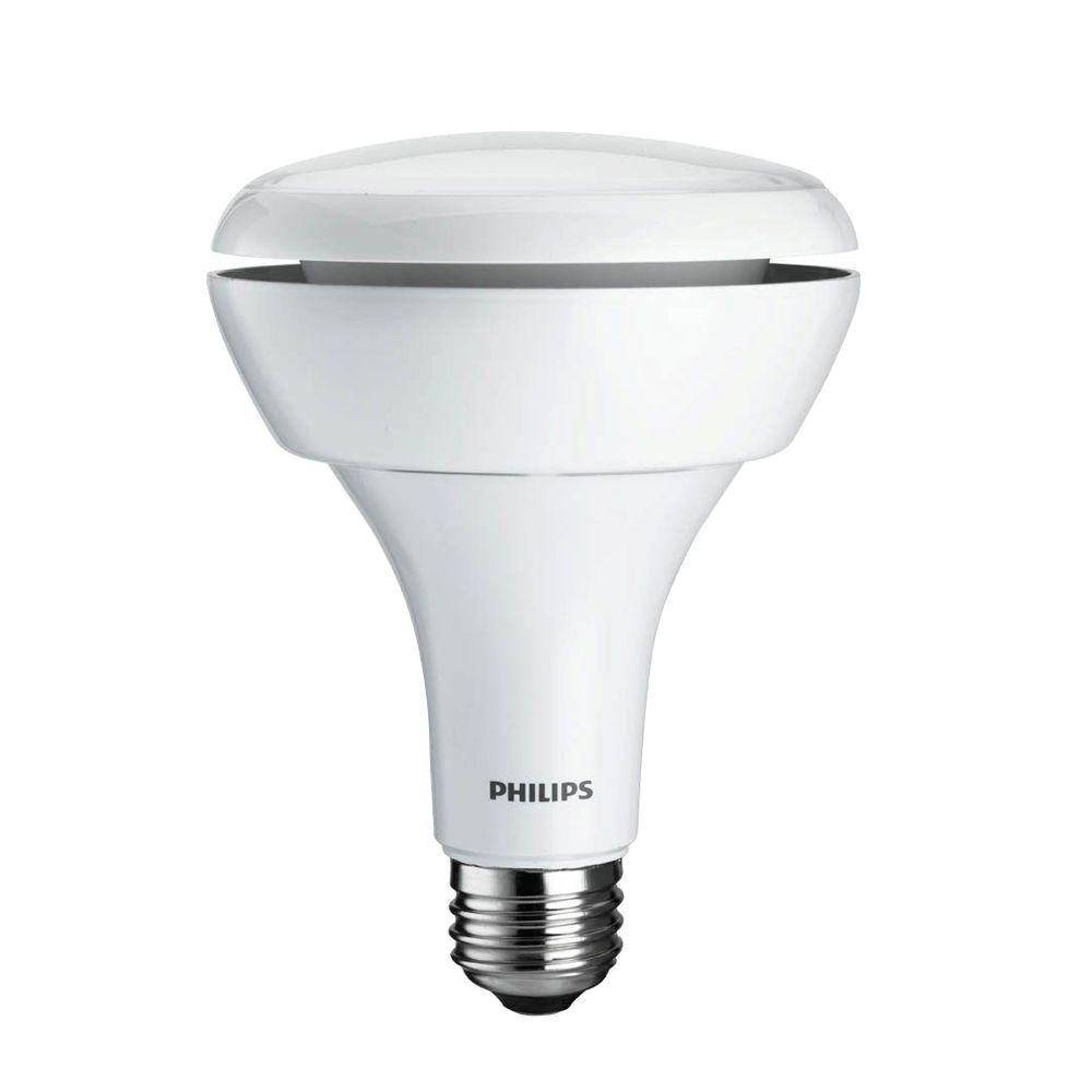 Philips 65W Equivalent Soft White (2700K) BR30 Dimmable LED Flood Light Bulb (E)* (2-Pack)