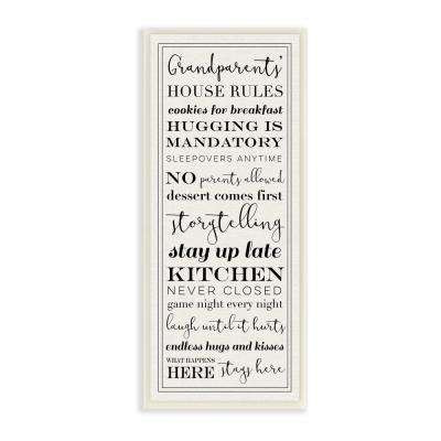 "7 in. x 17 in. ""Grandparents House Rules"" by Daphne Polselli Printed Wood Wall Art"