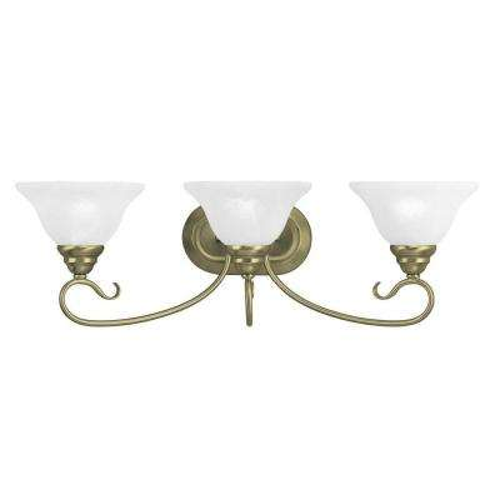 Providence 3-Light Antique Brass Incandescent Bath Vanity Light - Brass - Vanity Lighting - Lighting - The Home Depot