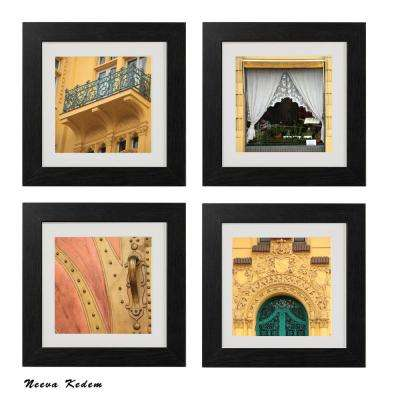 "Four 10 in. x 10 in. ""Prague Windows"" by Neeva Kedem Framed Printed Wall Art"