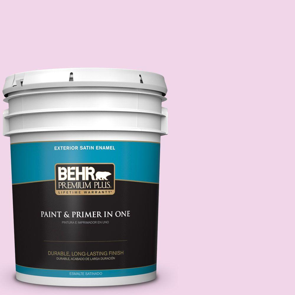 BEHR Premium Plus 5-gal. #680A-1 Candy Tuft Satin Enamel Exterior Paint