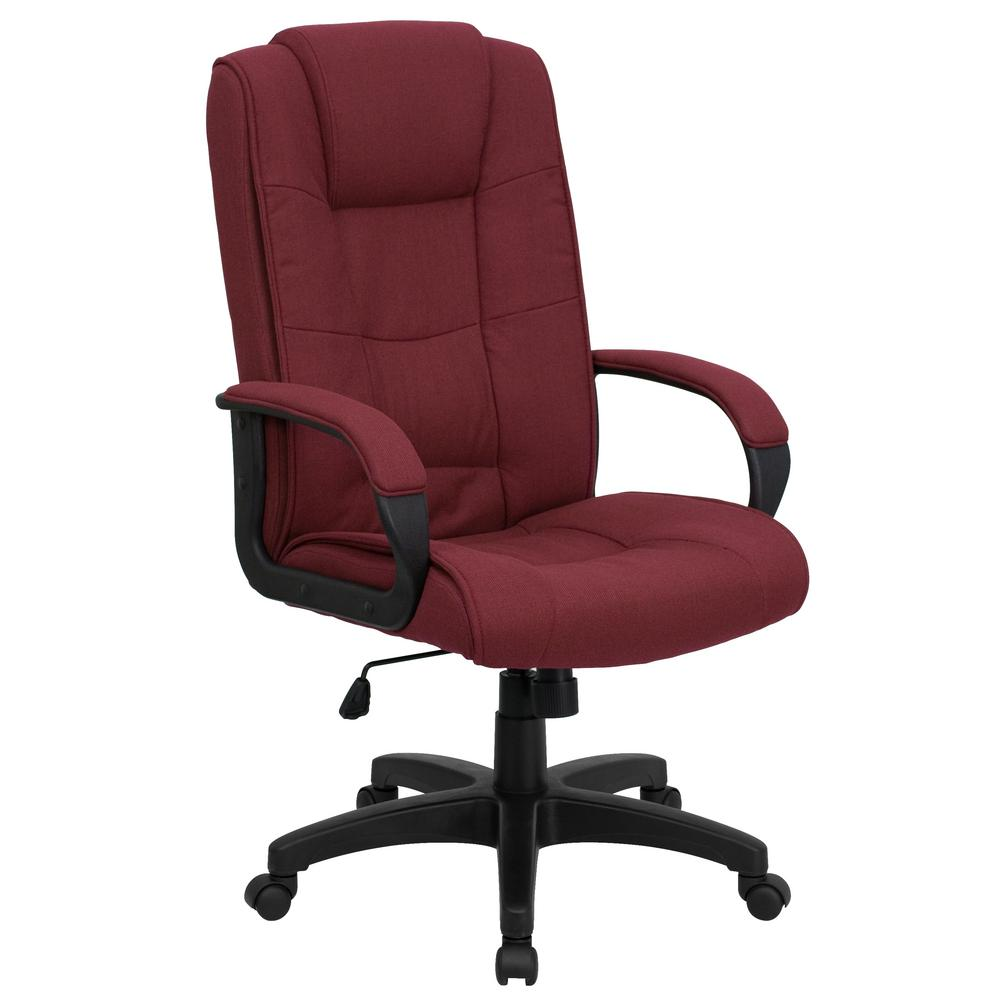 Flash Furniture High Back Burgundy Fabric Executive Swivel ...