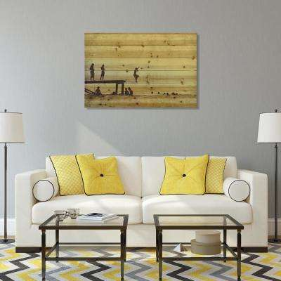"36 in. x 24 in. ""Cadillac"" Arte de Legno Digital Print on Solid Wood Wall Art"