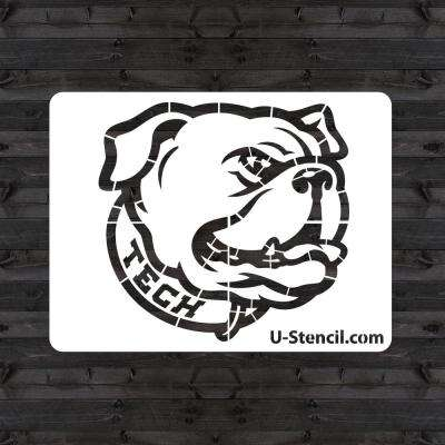 "Louisiana Tech ""BULLDOG"" Mini Stencil"