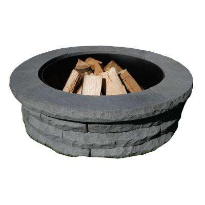 Ledgestone 47 in. Concrete Fire Pit Ring Kit Gray