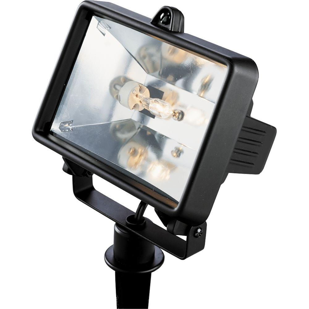 Landscape Flood Lights Spotlights: Progress Lighting Low-Voltage 50-Watt Black Landscape