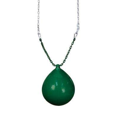 Green Buoy Ball with Chain and Spring Clips