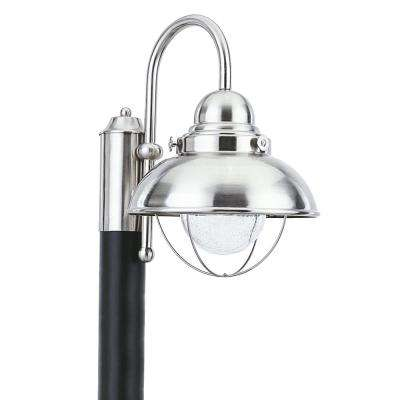 Sebring Outdoor Brushed Stainless Integrated LED Post Light
