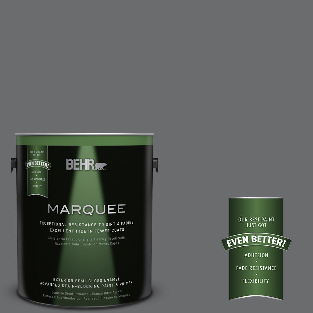 BEHR MARQUEE 1-gal. #770F-5 Dark Ash Semi-Gloss Enamel Exterior Paint