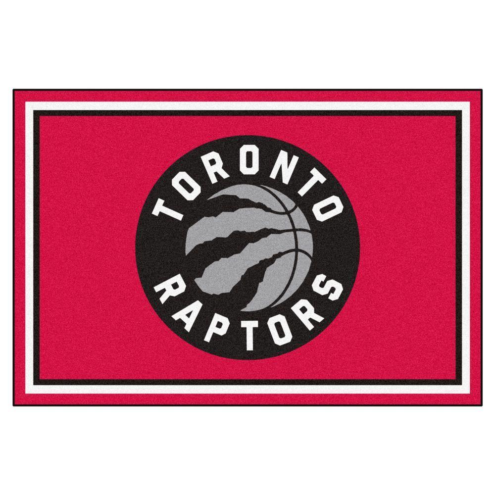 FANMATS NBA Toronto Raptors Red 5 ft. x 8 ft. Indoor Area Rug