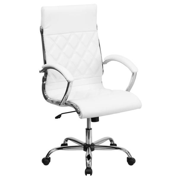 Flash Furniture High Back Designer White Leather Executive Swivel Office Chair