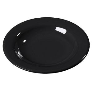 Carlisle 11.10 oz., 9.25 inch Diameter Melamine Soup, Salad and Pasta Bowl in Black (Case of 24) by Carlisle