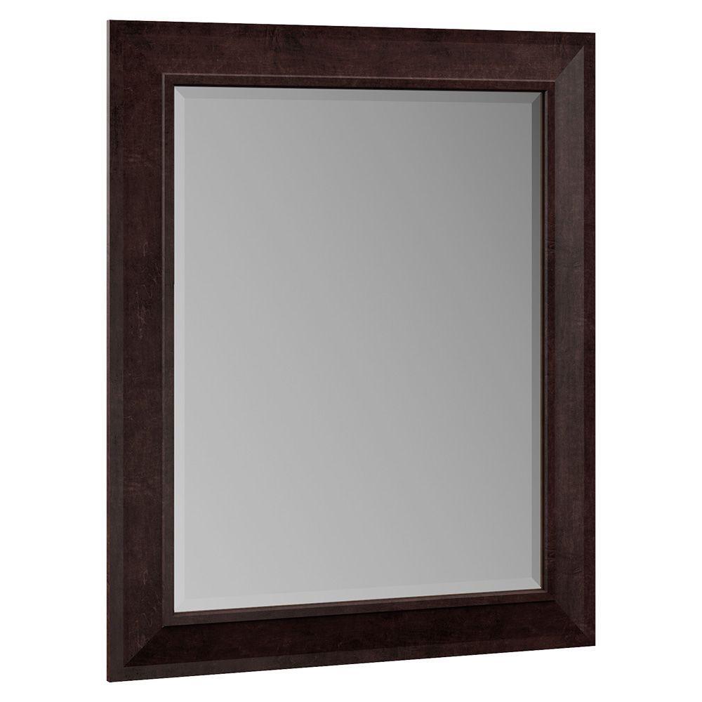 Stirling 29 in. x 35 in. Single Framed Vanity Mirror in Java