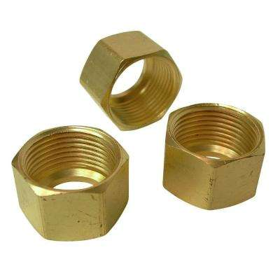 1/2 in. Brass Compression Nuts (3-Pack)