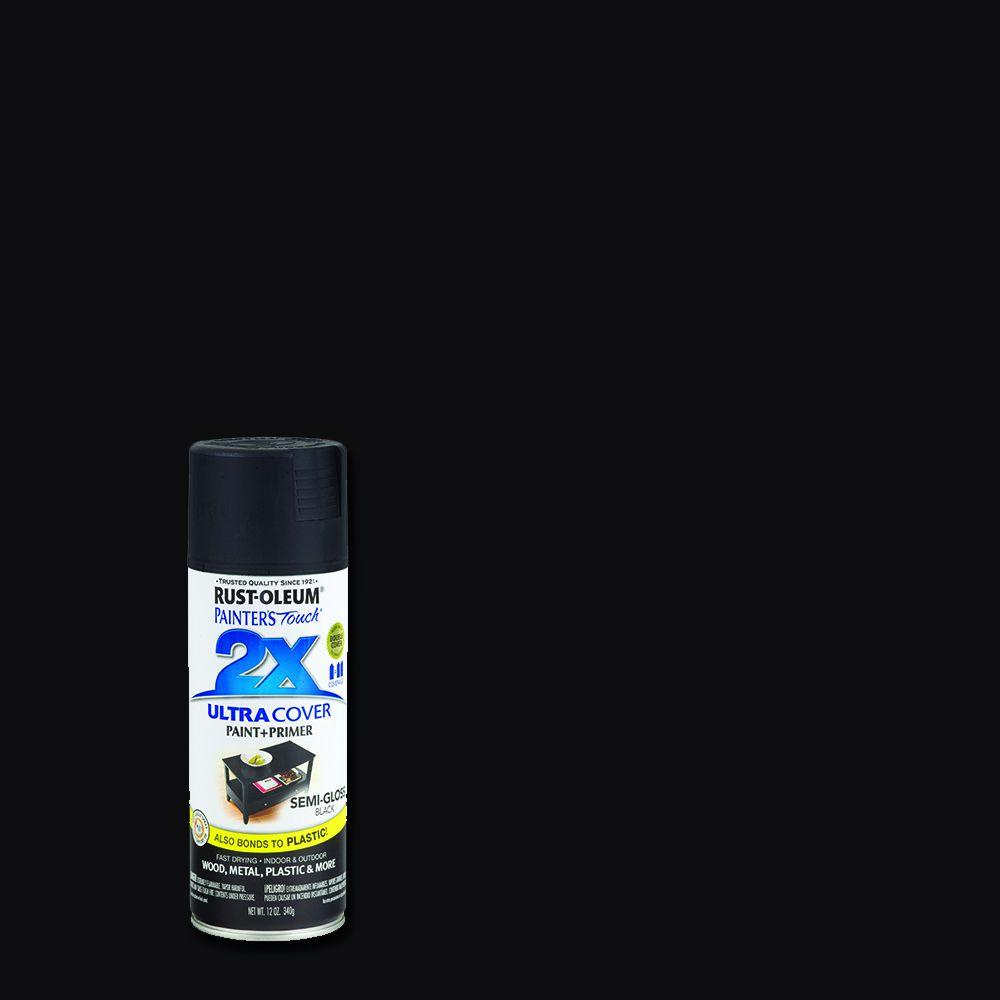 12 oz. Semi-Gloss Black General Purpose Spray Paint