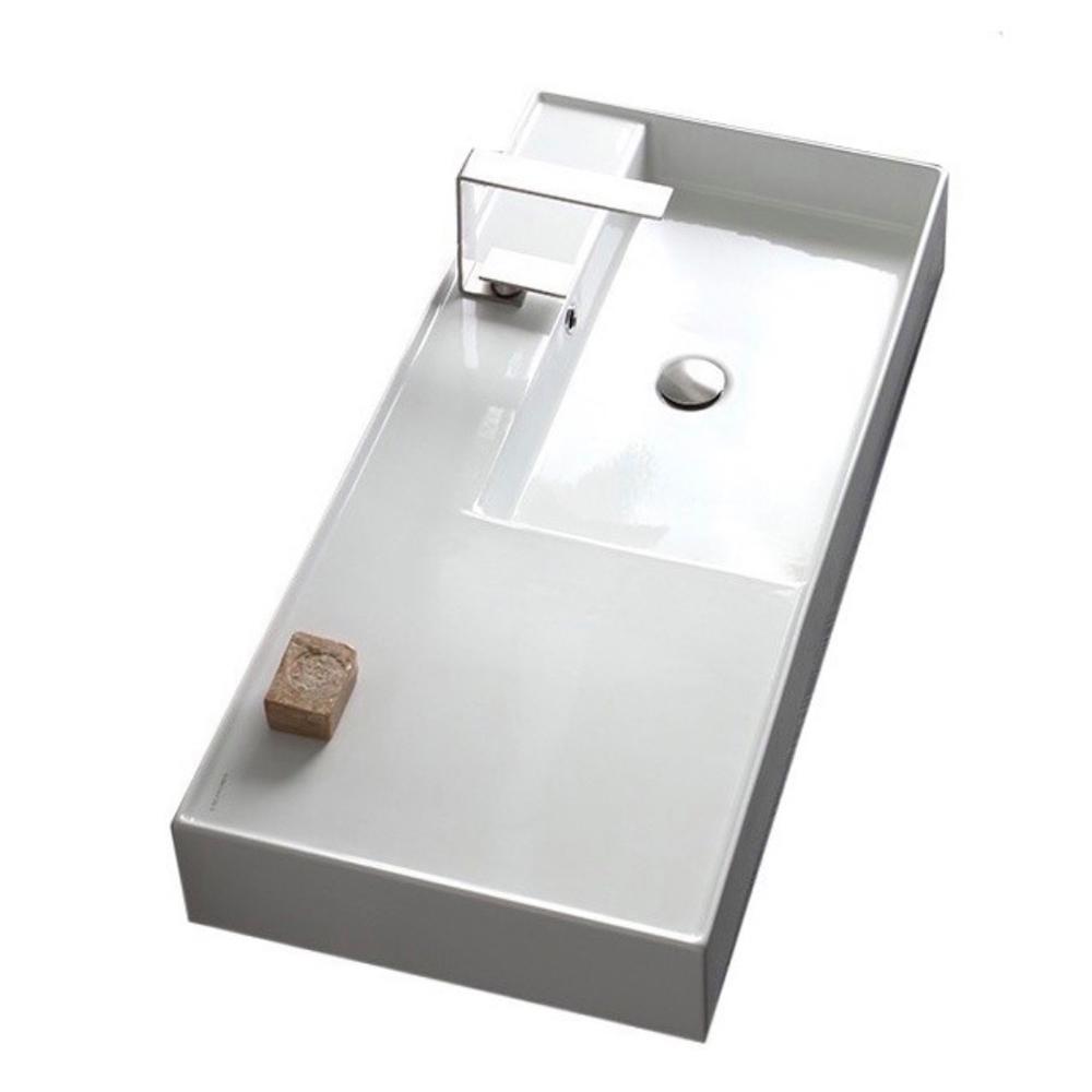 Nameeks Teorema 2-Wall Mounted Bathroom Sink in White