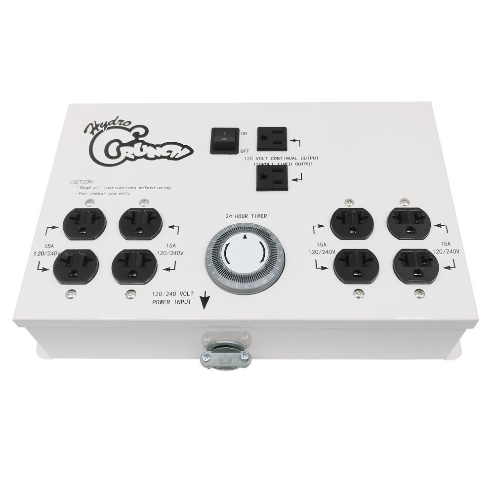 8-Outlet 120/240-Volt 8000-Watt Maximum Light Controller with Timer