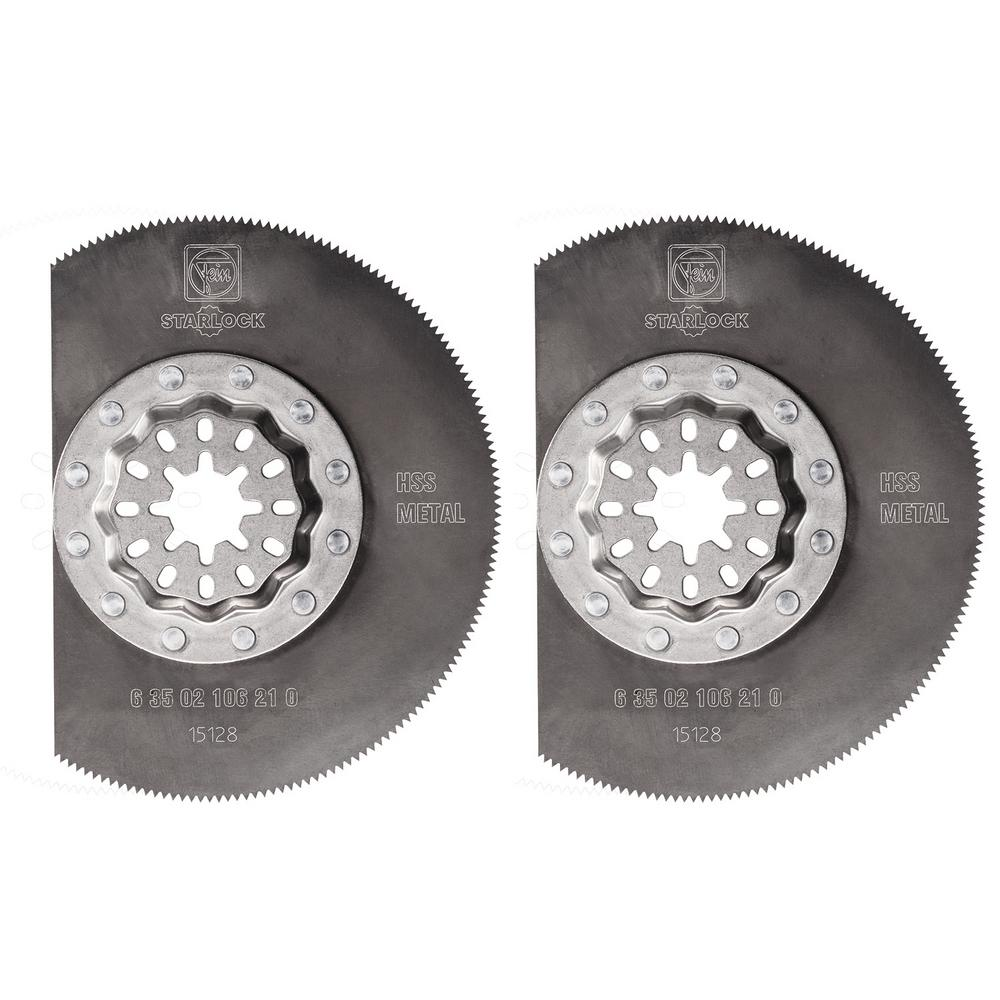 3-3/8 in. High Speed Steel Segment Saw Blade Starlock (2-Pack)
