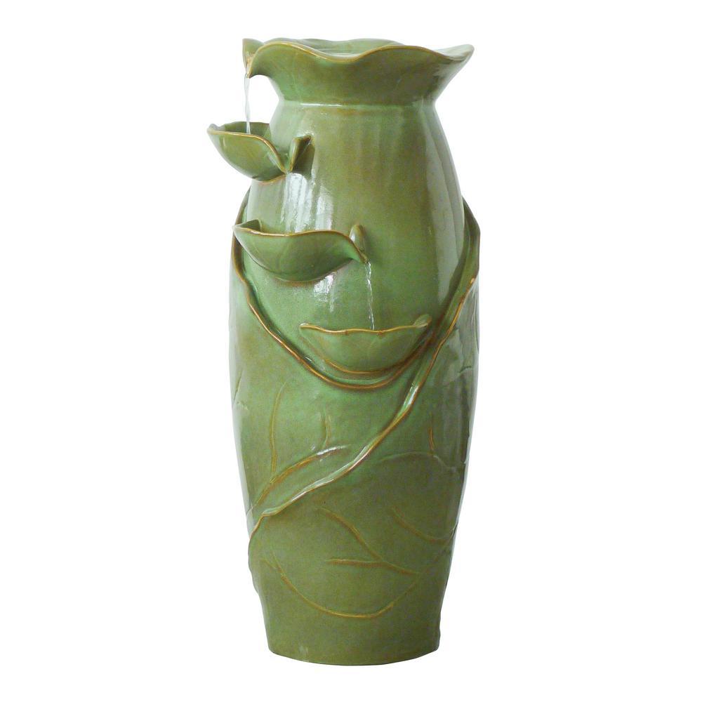 Ceramic Cascading Vines Ceramic Garden Fountain
