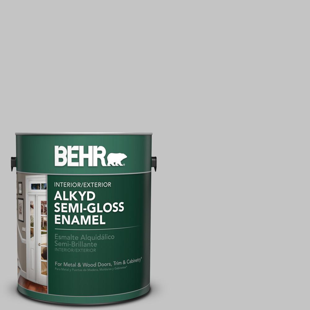 Behr premium plus 1 gal n520 2 silver bullet hi gloss for Behr paint silver bullet