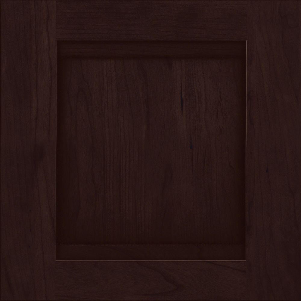KraftMaid 15x15 in. Cabinet Door Sample in Sonora Cherry with Peppercorn