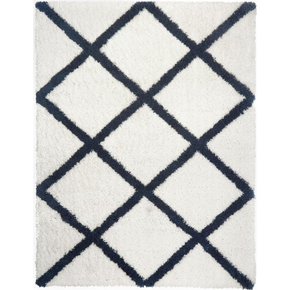 Home Dynamix SoHome Carmela Jayna Ivory/Navy 7 ft. 10 in. x 10 ft. 2 in. Indoor Area Rug
