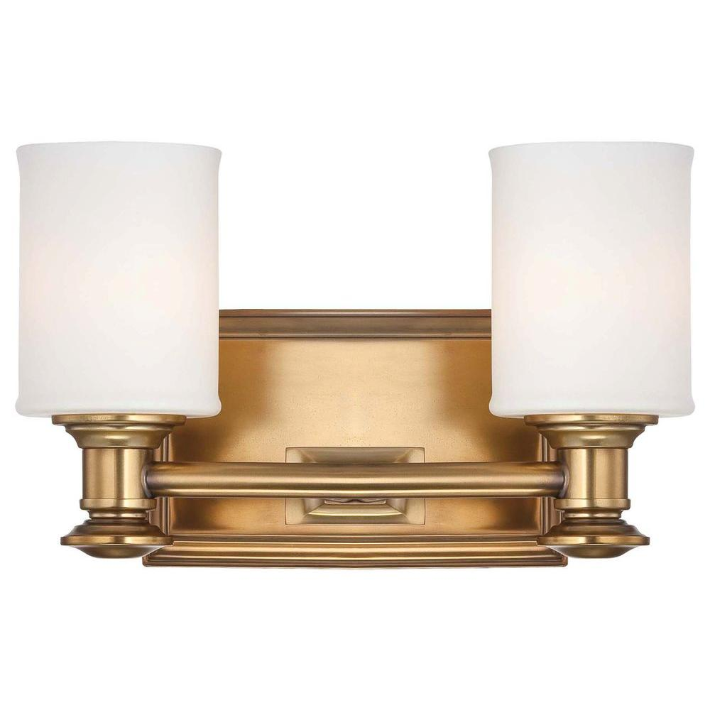 Amazing Minka Lavery Harbour Point 2 Light Liberty Gold Bath Light