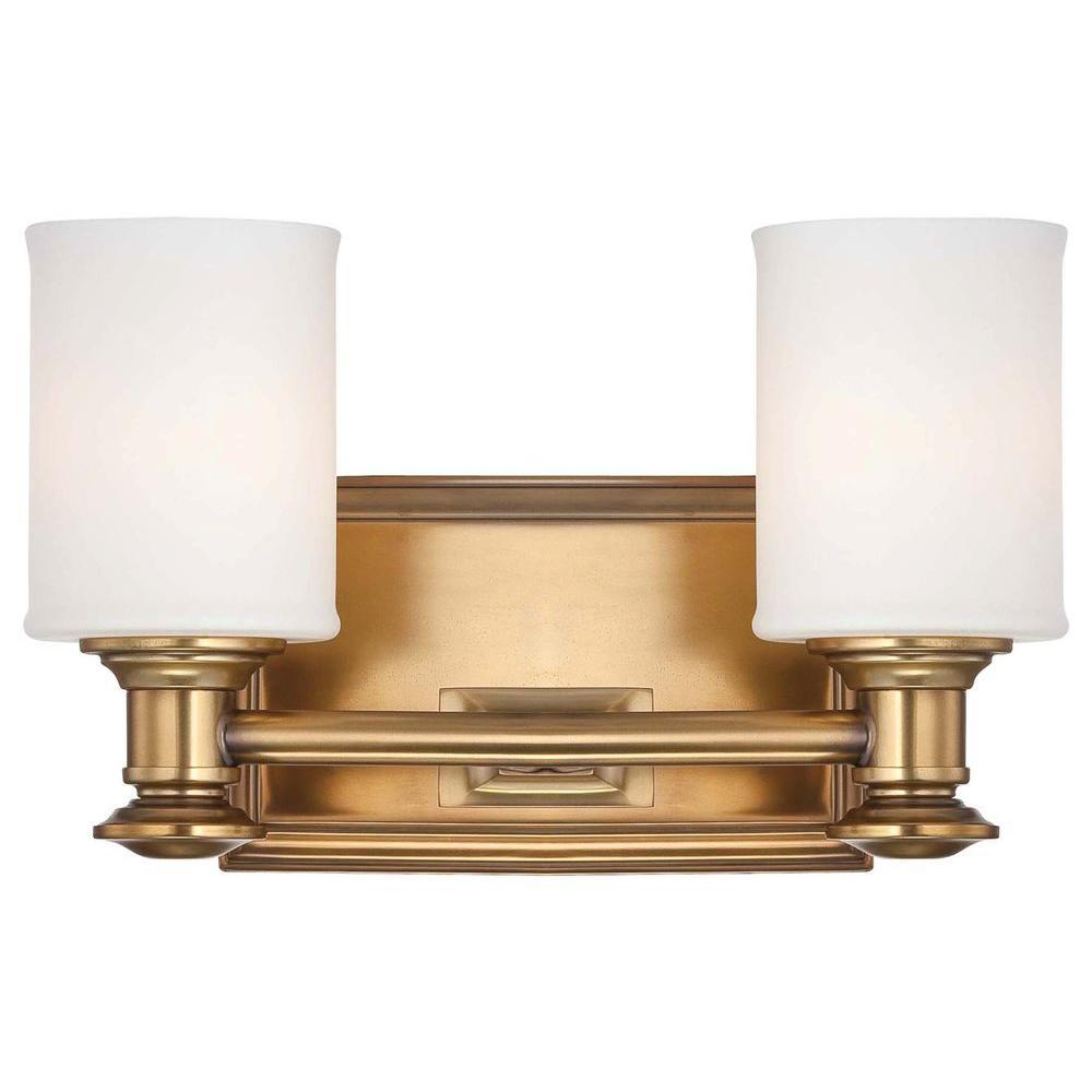 Harbour Point 2-Light Liberty Gold Bath Light