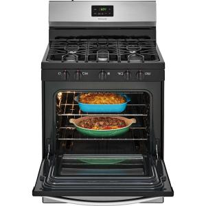 Frigidaire 30 in  4 2 cu  ft  Gas Range with 5 Burner Cooktop in Stainless  Steel