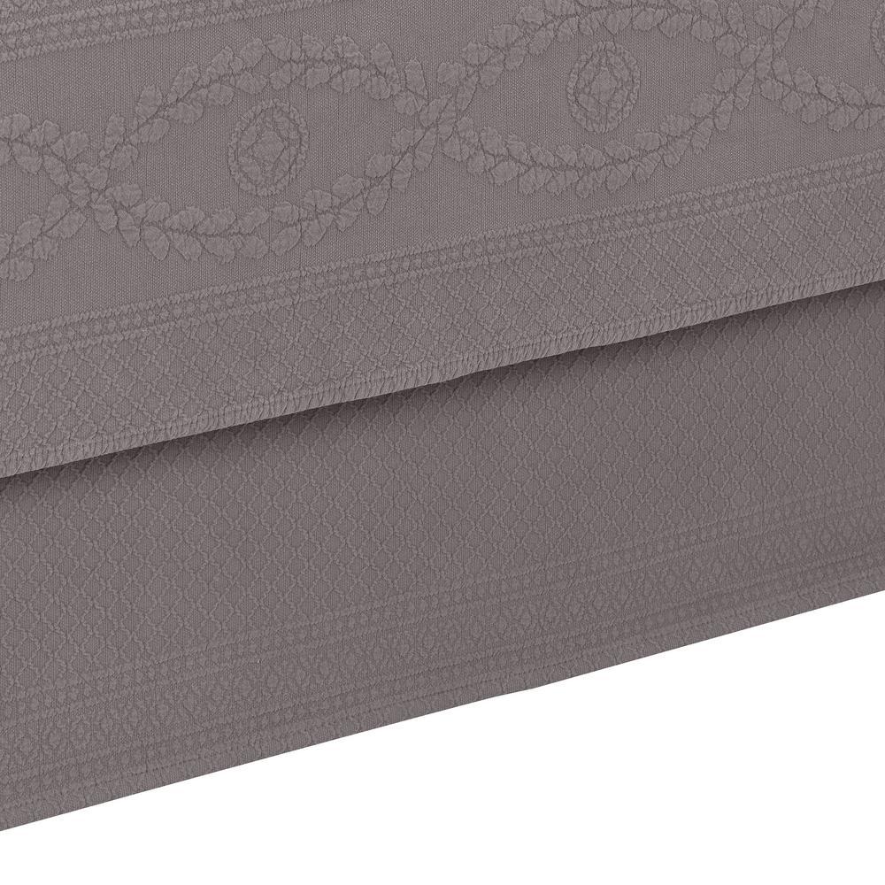 Williamsburg Abby Grey Queen Bed Skirt