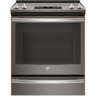 5.3 cu. ft. Slide-In Electric Range with Self-Cleaning Convection Oven in Slate, Fingerprint Resistant