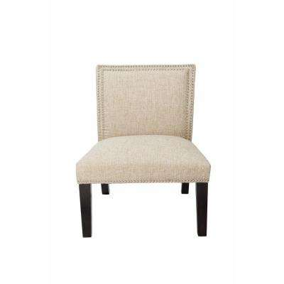 Burnett Sand Polyester Slipper Chair