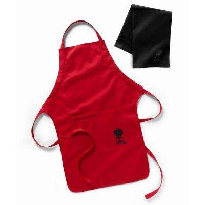 Red BBQ Apron and Towel Set
