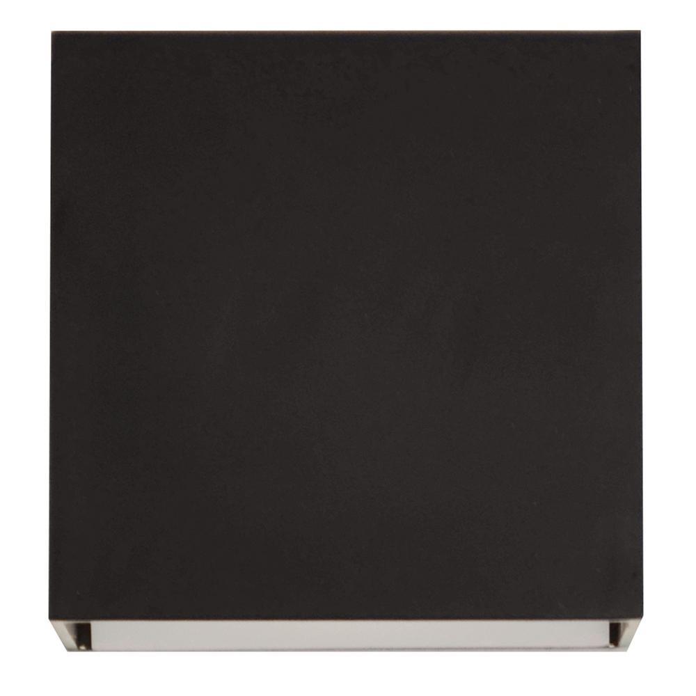 Zoe 9-Watt 120-277-Volt Black Integrated LED Wall Mount Sconce