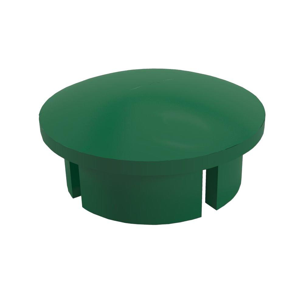 1-1/4 in. Furniture Grade PVC Internal Dome Cap in Green (10-Pack)