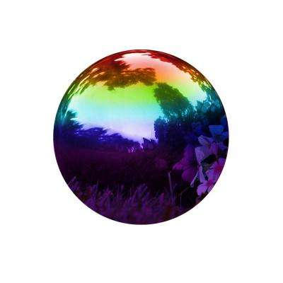 Rainbow 8 in. Gazing Mirror Ball - Stainless Steel