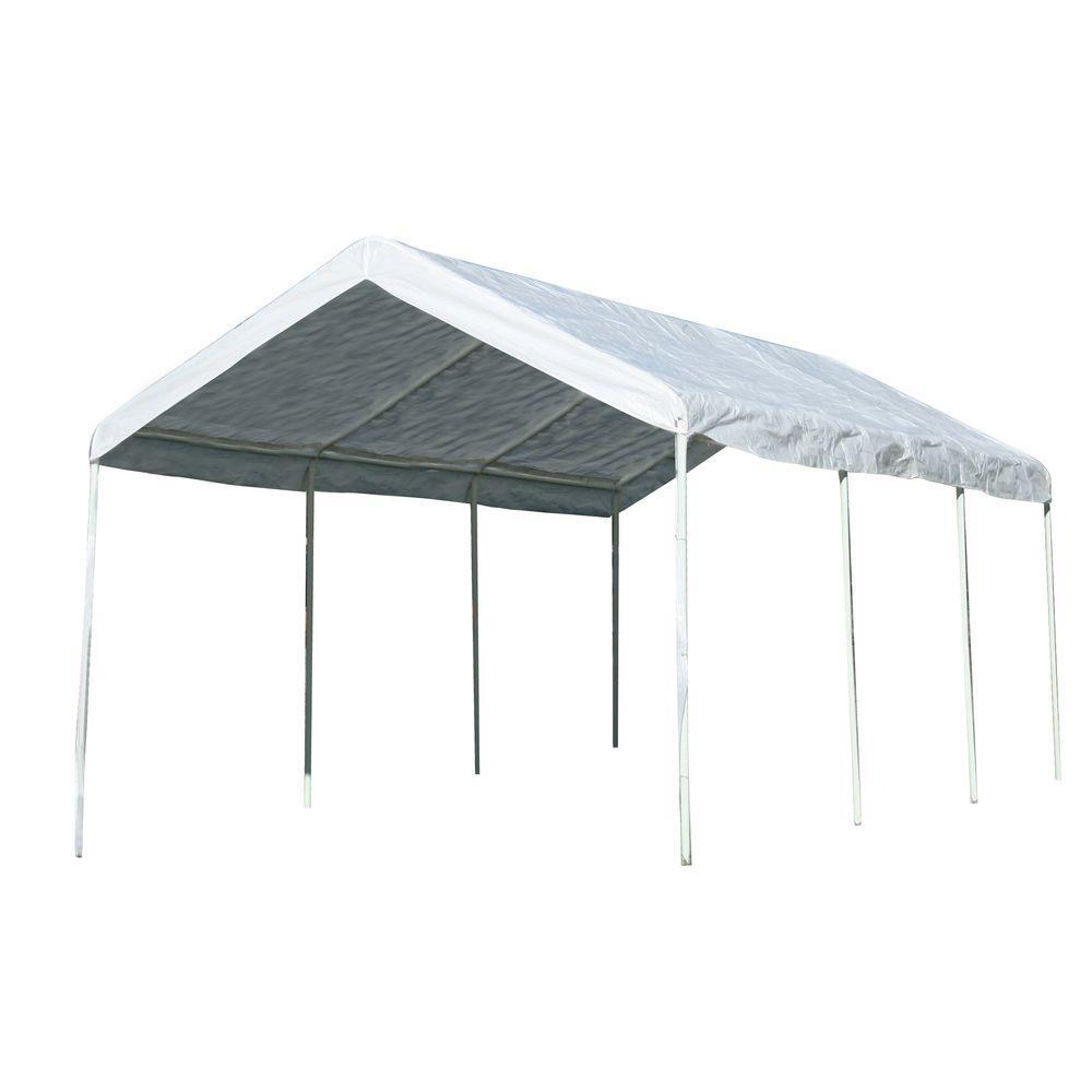 Sportsman 10 ft. x 20 ft. White Portable Canopy Pavilion