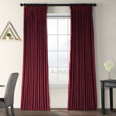 Blackout Signature Burgundy Doublewide Blackout Velvet Curtain - 100 in. W x 84 in. L (1 Panel)