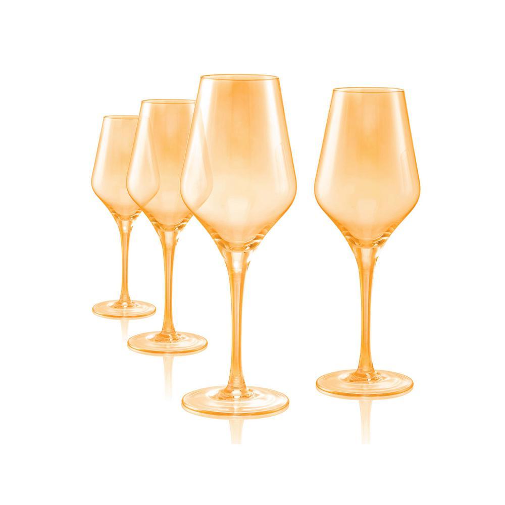 16 oz. 4-Piece Luster Gold Goblet Set